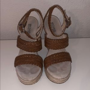 Michael Kors wedge sandals size 8